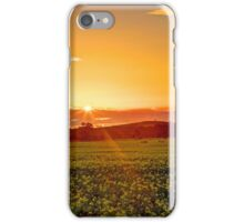 Sunset over the canola field iPhone Case/Skin