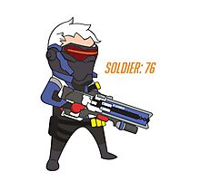 Overwatch - Cute Soldier 76 Photographic Print