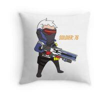 Overwatch - Cute Soldier 76 Throw Pillow