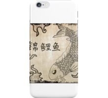 Koi Fish on Parchment Paper iPhone Case/Skin