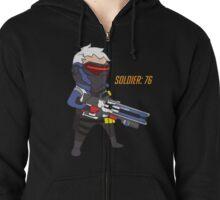 Overwatch - Cute Soldier 76 Zipped Hoodie