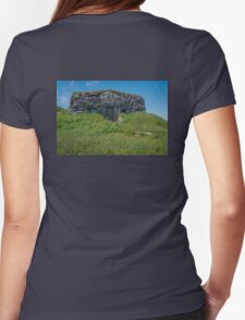 Reproduction of Viking Sod House at L'Anse aux Meadows, NL Womens Fitted T-Shirt