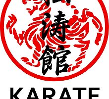 Shotokan Karate Symbol And Kanji Centerd by DCornel