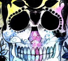 Abstract watercolor skull Sticker