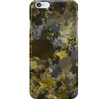 Abstraction 013 Blue Gold Blocks iPhone Case/Skin