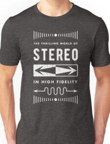 High Fidelity Stereo (white) Unisex T-Shirt