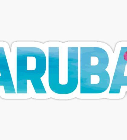 Aruba Design with Flower Sticker