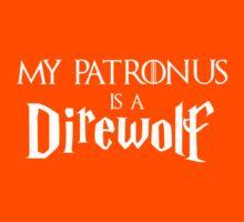 My Patronus is a Direwolf Kids Tee