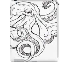 Kraken Flash Black and White iPad Case/Skin