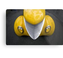 Yellow Grilled Metal Print