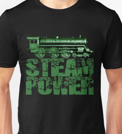 Steam Power Vintage Steam Loco Unisex T-Shirt