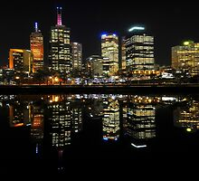 Melbourne City By Night by John  Kowalski