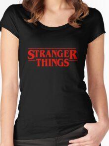 Stranger Things Logo Women's Fitted Scoop T-Shirt