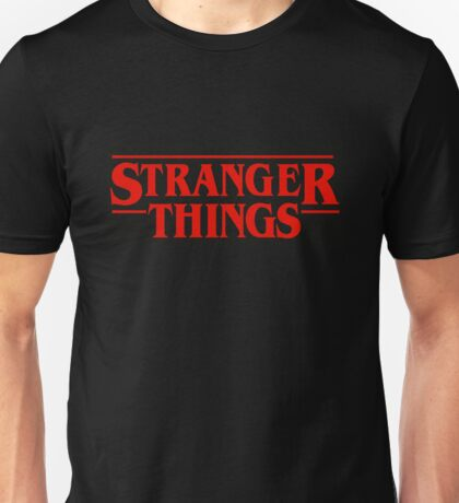 Stranger Things Logo Unisex T-Shirt