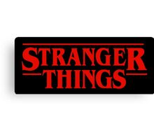 Stranger Things Logo Canvas Print