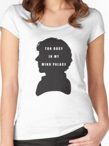 Sherlock Holmes Too busy in my mind palace Women's Fitted Scoop T-Shirt