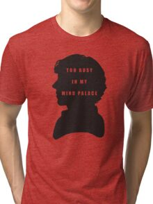 Sherlock Holmes Too busy in my mind palace Tri-blend T-Shirt