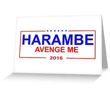 Harambe 2016 - sticker Greeting Card