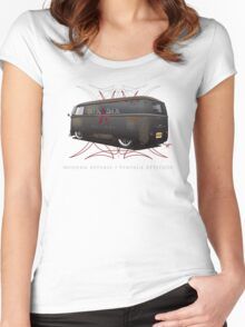 Vintage Panel Bus Women's Fitted Scoop T-Shirt