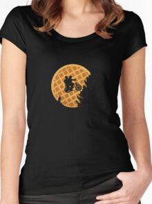 Moon's Waffle Stranger Things Women's Fitted Scoop T-Shirt
