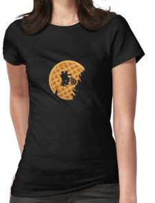 Moon's Waffle Stranger Things Womens Fitted T-Shirt