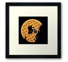 Moon's Waffle Stranger Things Framed Print