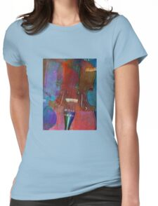Violin Abstract Two Womens Fitted T-Shirt
