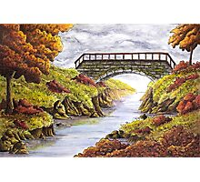 Tranquil Autumn River  Photographic Print