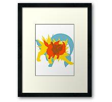 Eevee Pokemon Evolution silhouett Framed Print