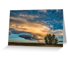 Light Storm On The Plains Greeting Card
