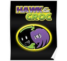 Hawk & Croc Lock-On shirt Poster