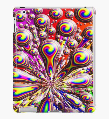 Psychedelic Rainbow Orb Warp Design iPad Case/Skin