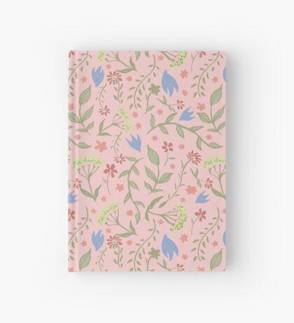 Trendy Pink Floral Pattern - Japanese Brush Hardcover Journal