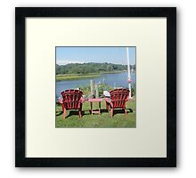 Water View for Two Framed Print