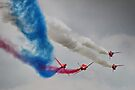 The Corkscrew - Red Arrows Farnborough 2014 by Colin  Williams Photography