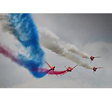The Corkscrew - Red Arrows Farnborough 2014 Photographic Print