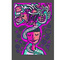Geek Thingker Doodle Photographic Print