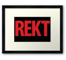 REKT Framed Print