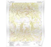 USGS TOPO Map Arizona AZ Willow Mtn SE 314131 1967 24000 Poster