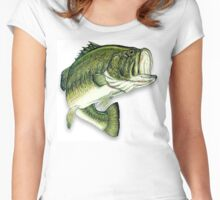 Large Mouth Bass Women's Fitted Scoop T-Shirt