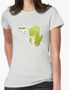 Poly Poly Dinosaur Womens Fitted T-Shirt