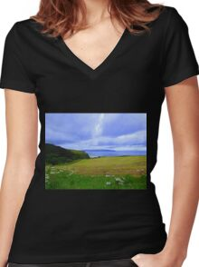 The View From The Demesne.....................N Ireland Women's Fitted V-Neck T-Shirt