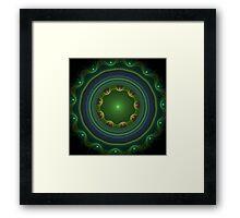 Green Disc Fractal Art Framed Print