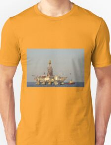Off Shore Oil Rig with Helicopter and Boat Unisex T-Shirt