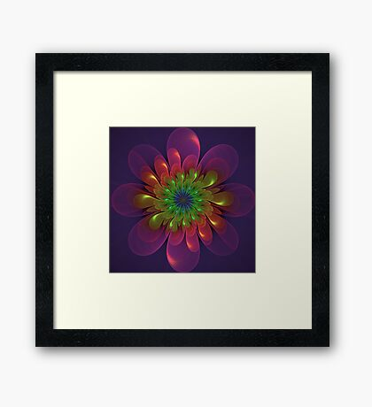 Flower Power Fractal Art Framed Print