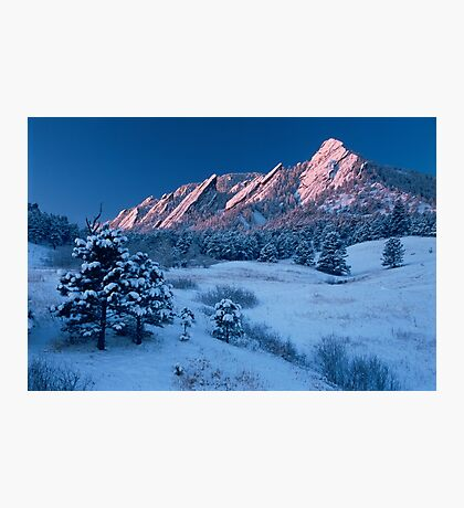 Cathedral - The Flatirons At Sunrise Photographic Print