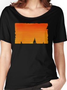 Ships at Sunset Women's Relaxed Fit T-Shirt