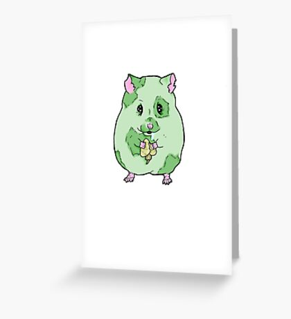 Zombie Hamster Greeting Card