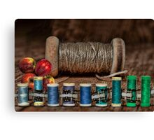 Apple Yarn Scale Thread Canvas Print