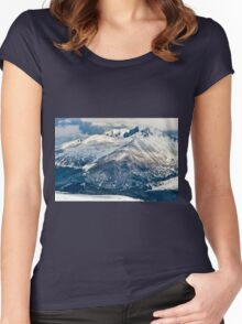 Snow Palaces of Trail Ridge Road Women's Fitted Scoop T-Shirt